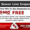 Spring Time Special! Free Sewer Line Inspection for New Residential Customers