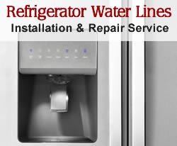 refrigerator water lines